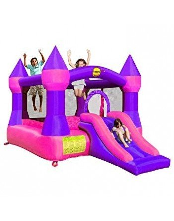 Castillo Happy Hop Mini XL Rosa 3,65 * 2,65 * 2,15
