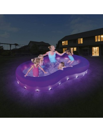 Piscina hinchable con LEDS...